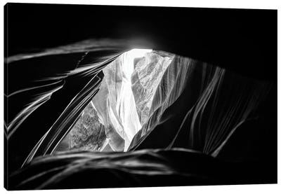 Black Arizona Series - Antelope Canyon Natural Wonder VI Canvas Art Print