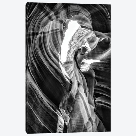 Black Arizona Series - Antelope Canyon Natural Wonder VII Canvas Print #PHD1566} by Philippe Hugonnard Canvas Print