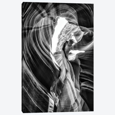 Black Arizona Series - Antelope Canyon Natural Wonder VII Canvas Print #PHD1566} by Philippe Hugonnard Canvas Print