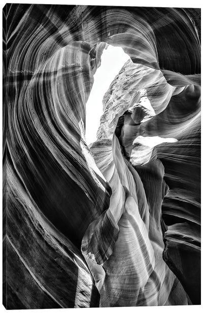Black Arizona Series - Antelope Canyon Natural Wonder VII Canvas Art Print