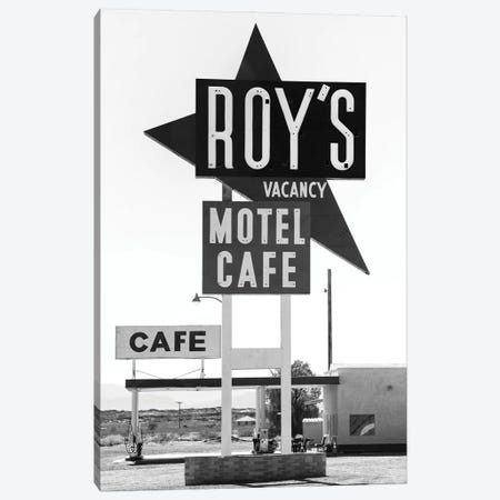 Black Arizona Series - Roy's Motel Route 66 Canvas Print #PHD1567} by Philippe Hugonnard Canvas Print
