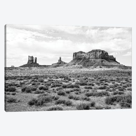 Black Arizona Series - Monument Valley III Canvas Print #PHD1574} by Philippe Hugonnard Canvas Wall Art