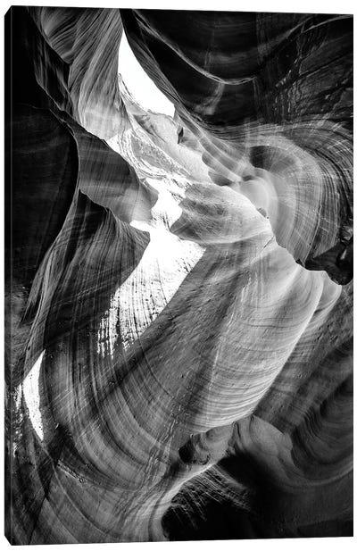 Black Arizona Series - Antelope Canyon Natural Wonder VIII Canvas Art Print