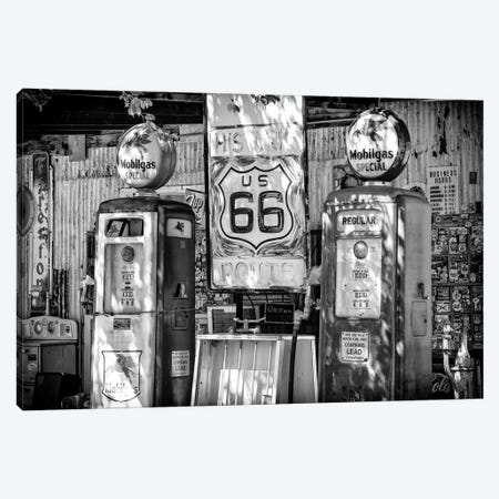 Black Arizona Series - Route 66 Mobilgas Special Canvas Print #PHD1576} by Philippe Hugonnard Canvas Art