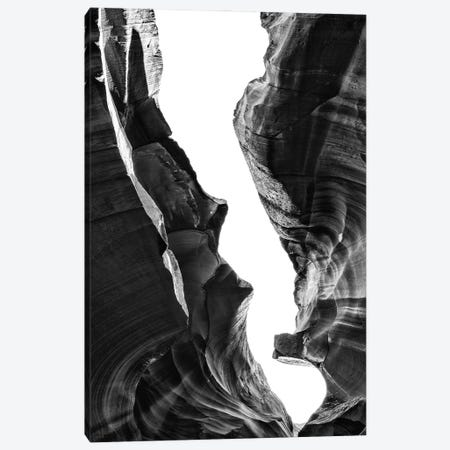 Black Arizona Series - Antelope Canyon Natural Wonder IX Canvas Print #PHD1578} by Philippe Hugonnard Canvas Print