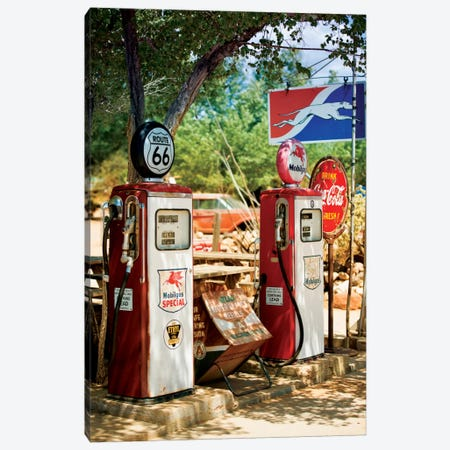 Gas Station Along U.S. Route 66 Canvas Print #PHD157} by Philippe Hugonnard Canvas Print
