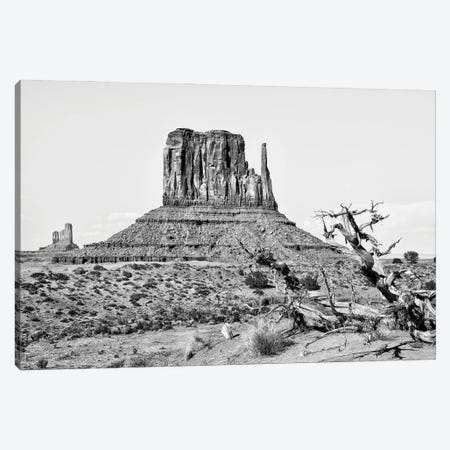 Black Arizona Series - West Mitten Butte Monument Valley II Canvas Print #PHD1587} by Philippe Hugonnard Canvas Art Print