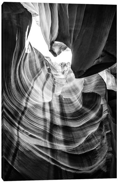 Black Arizona Series - Antelope Canyon Natural Wonder X Canvas Art Print