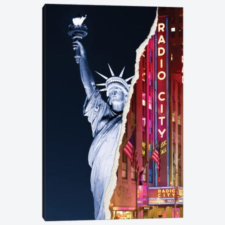 Liberty Night Canvas Print #PHD15} by Philippe Hugonnard Canvas Wall Art