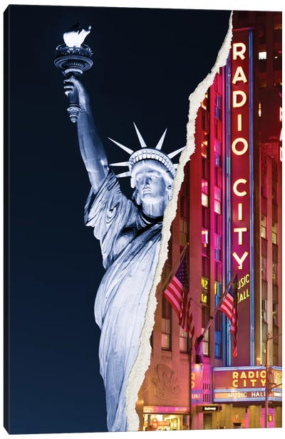 Liberty Night Canvas Art Print