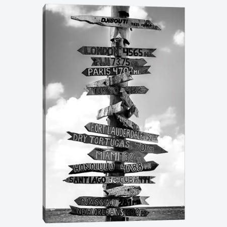 Key West Directional Sign I Canvas Print #PHD160} by Philippe Hugonnard Canvas Print