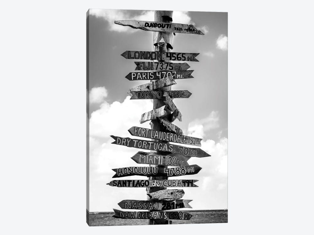Key West Directional Sign I by Philippe Hugonnard 1-piece Canvas Art Print