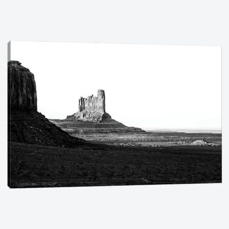 Black Arizona Series - Stagecoach and Bear Butte Monument Valley Canvas Print #PHD1619} by Philippe Hugonnard Canvas Artwork