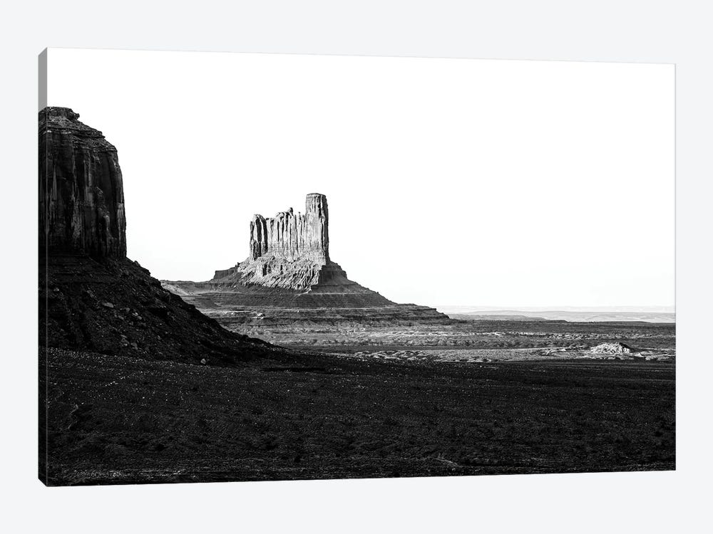 Black Arizona Series - Stagecoach and Bear Butte Monument Valley by Philippe Hugonnard 1-piece Canvas Wall Art