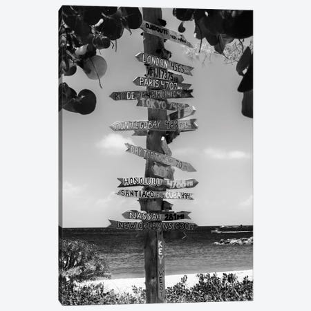 Key West Directional Sign II Canvas Print #PHD161} by Philippe Hugonnard Canvas Print