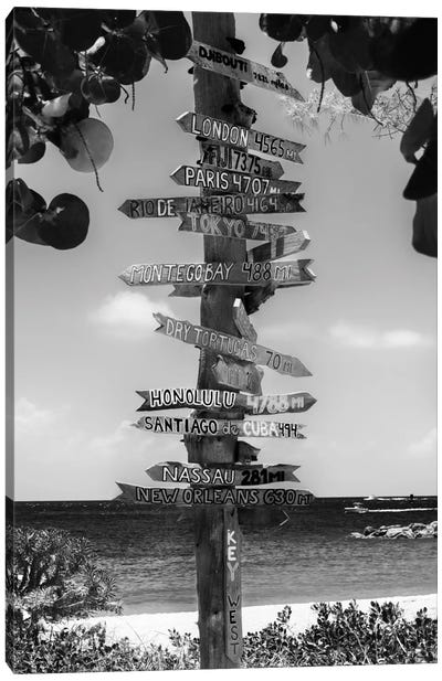Key West Directional Sign II Canvas Art Print
