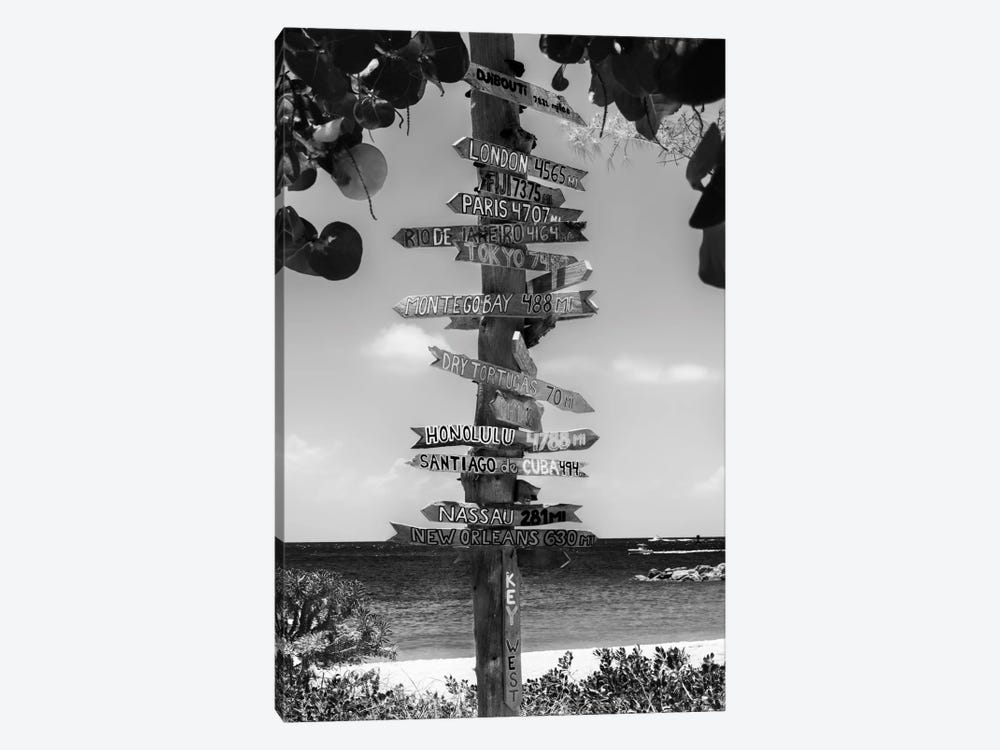Key West Directional Sign II by Philippe Hugonnard 1-piece Canvas Artwork