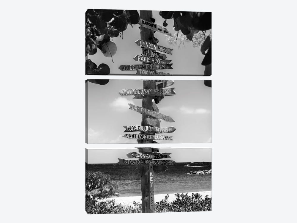 Key West Directional Sign II by Philippe Hugonnard 3-piece Canvas Wall Art