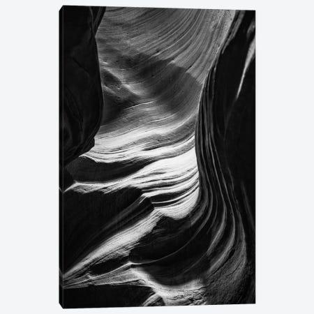 Black Arizona Series - The Antelope Canyon Natural Wonder VI Canvas Print #PHD1626} by Philippe Hugonnard Canvas Wall Art