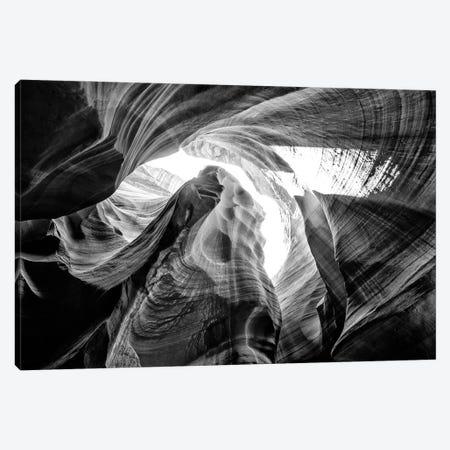 Black Arizona Series - The Antelope Canyon Natural Wonder VII Canvas Print #PHD1627} by Philippe Hugonnard Canvas Artwork