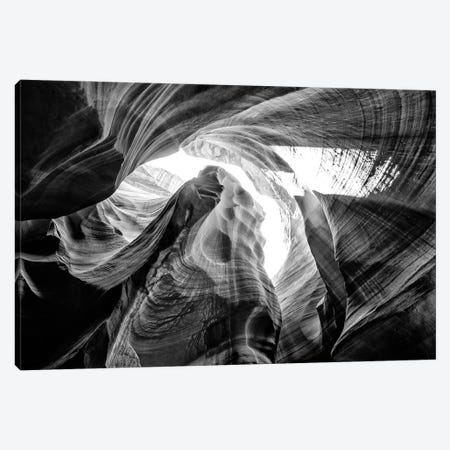 Black Arizona Series - The Antelope Canyon Natural Wonder VII Canvas Print #PHD1627} by Philippe Hugonnard Canvas Artwork