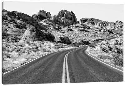 Black Arizona Series - Between The Rocks Canvas Art Print