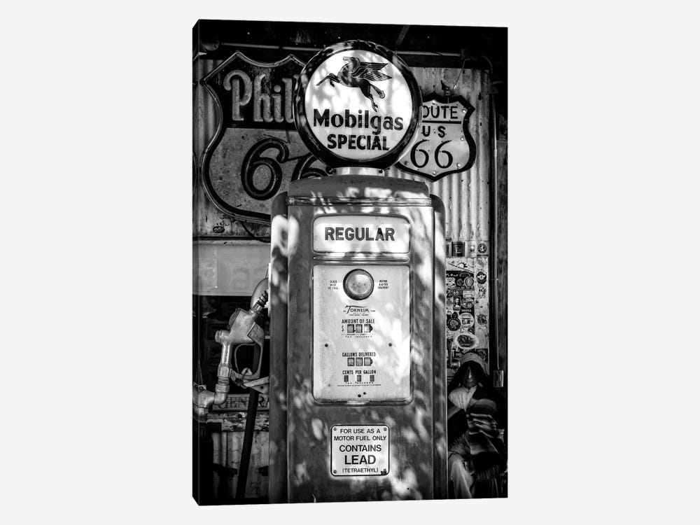 Black Arizona Series - Route 66 Regular Gas by Philippe Hugonnard 1-piece Canvas Print