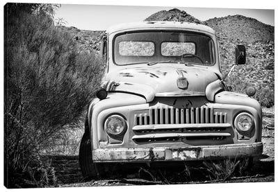 Black Arizona Series - Old Truck Canvas Art Print