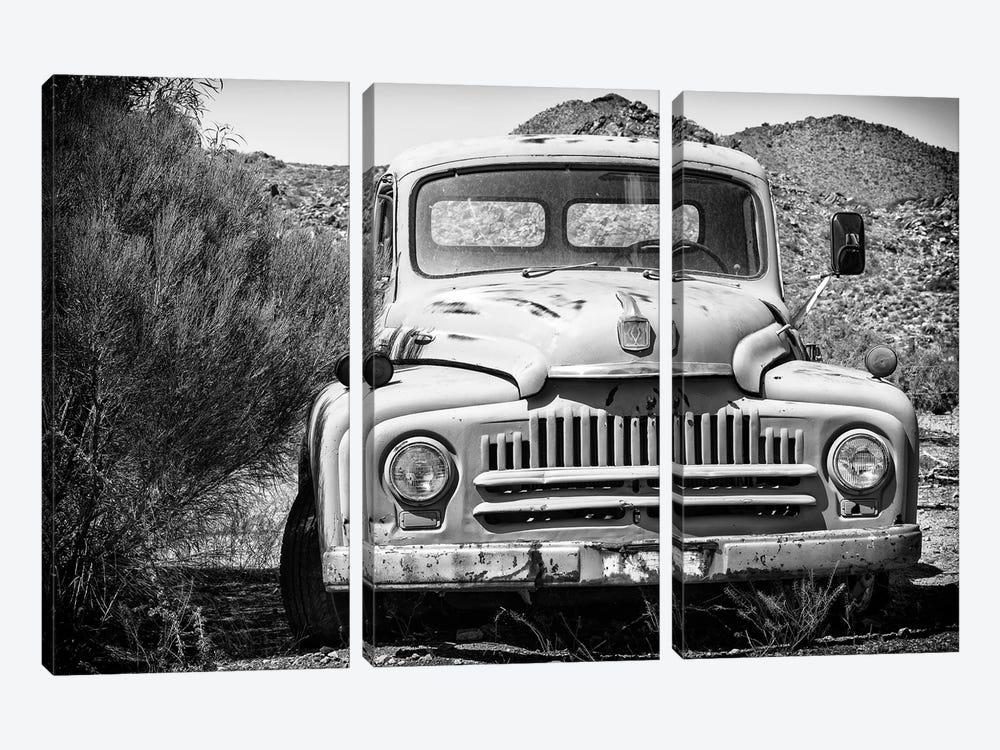 Black Arizona Series - Old Truck by Philippe Hugonnard 3-piece Canvas Art Print