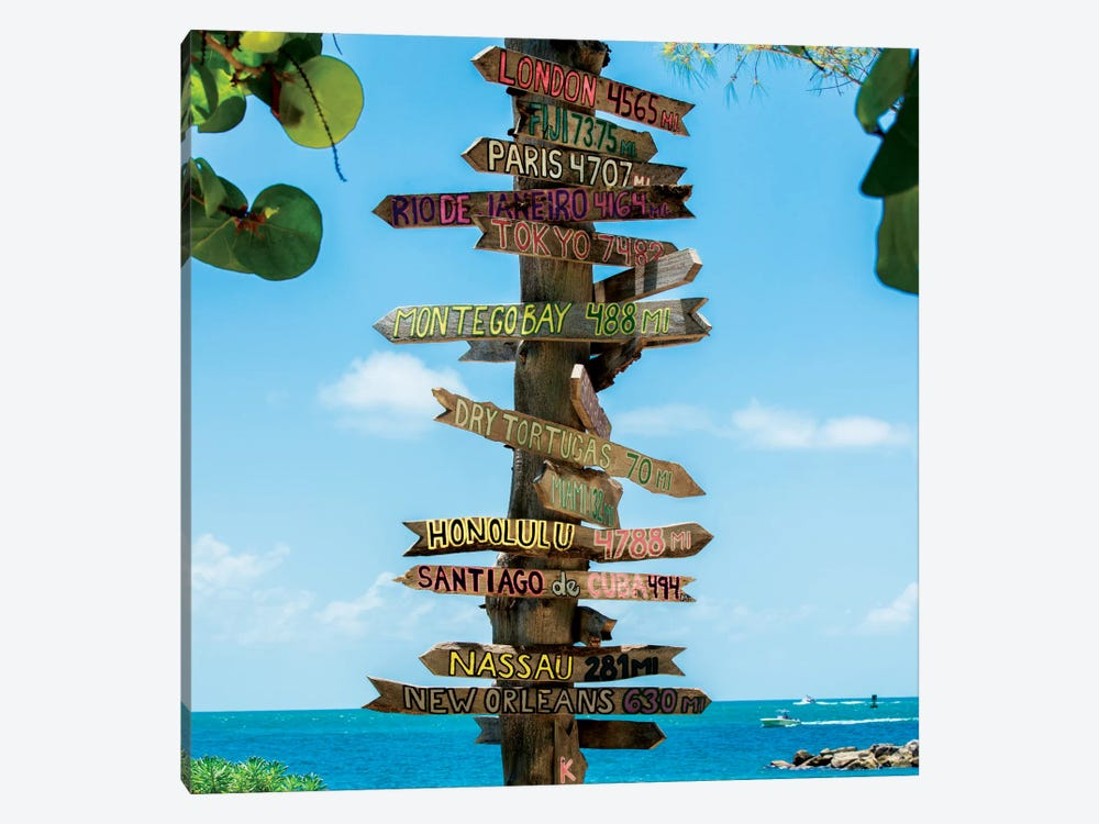Key West Directional Sign IV by Philippe Hugonnard 1-piece Canvas Artwork