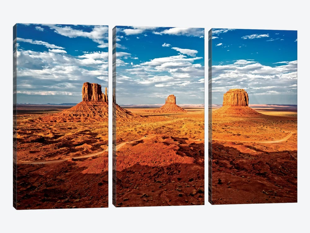 Monument Valley I by Philippe Hugonnard 3-piece Canvas Art Print