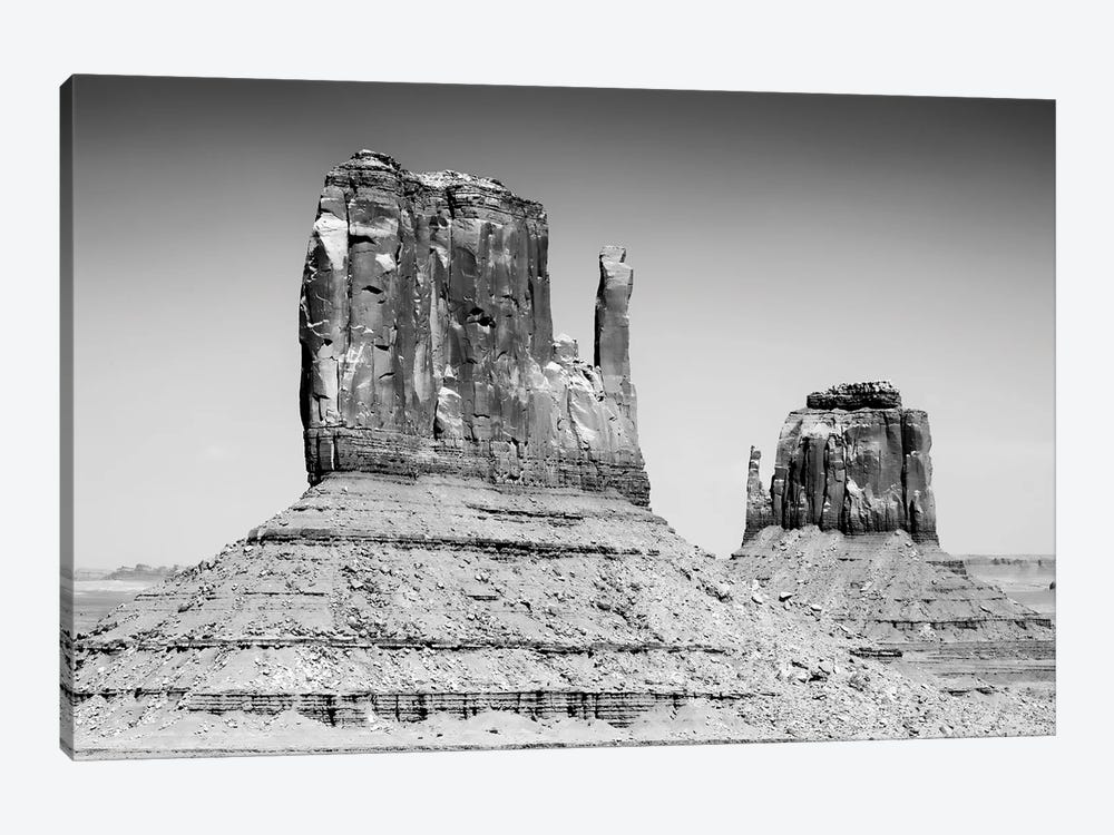 Black Arizona Series - West and East Mitten Butte Monument Valley II by Philippe Hugonnard 1-piece Canvas Print