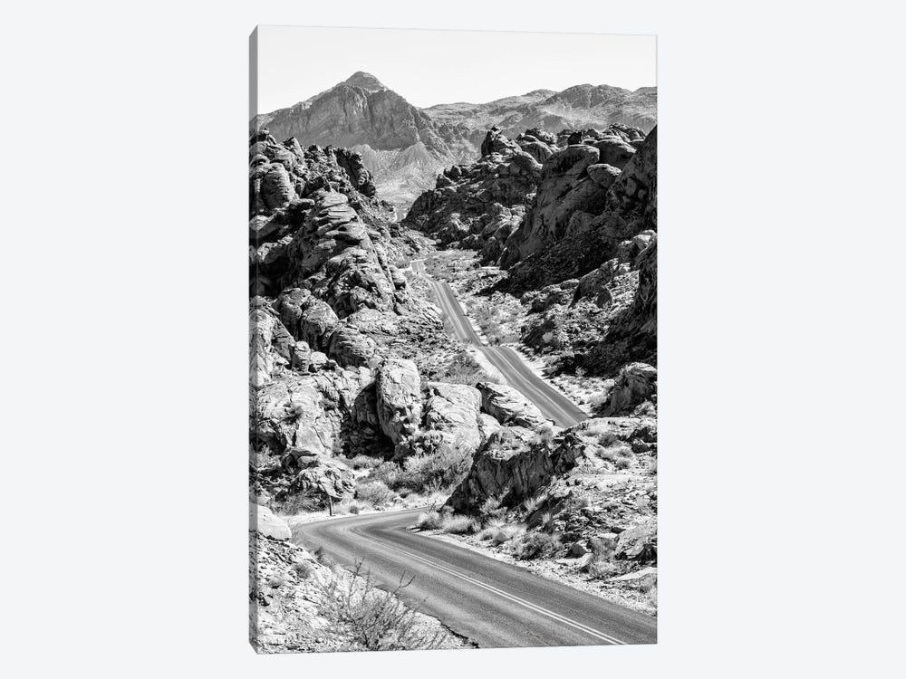 Black Arizona Series - Road between Rocks by Philippe Hugonnard 1-piece Canvas Print