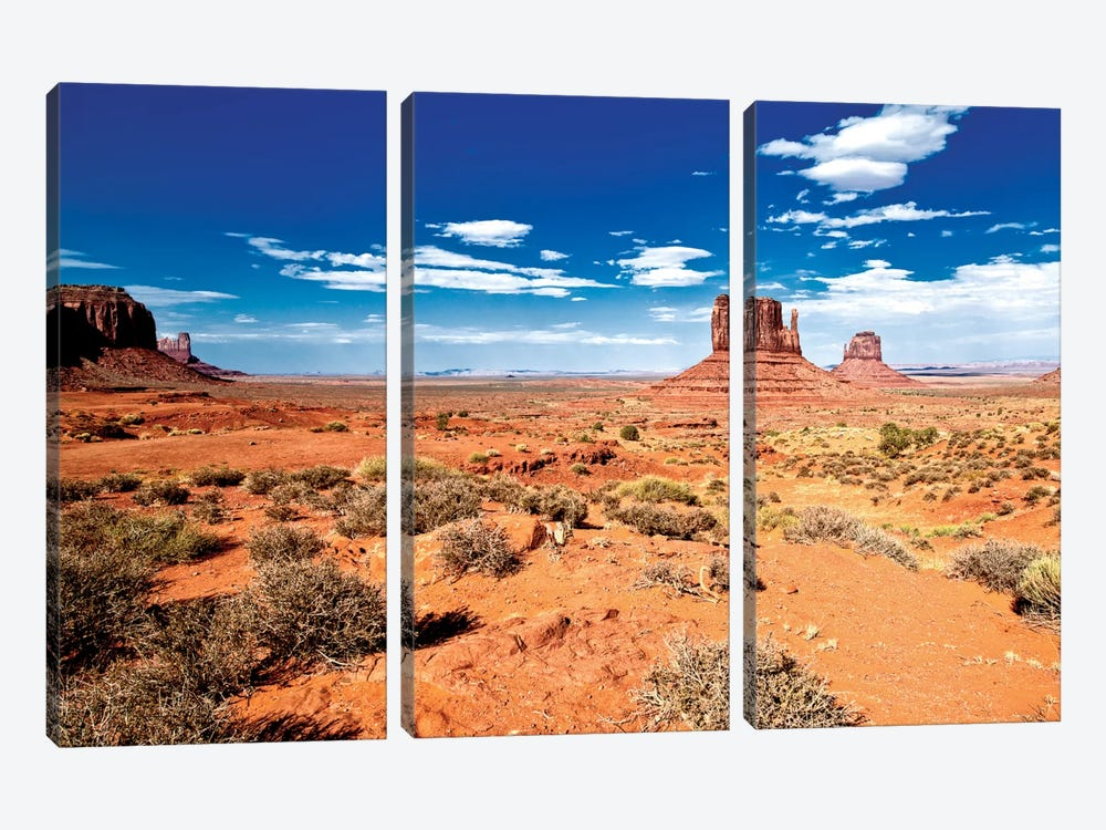 Monument Valley II by Philippe Hugonnard 3-piece Canvas Wall Art