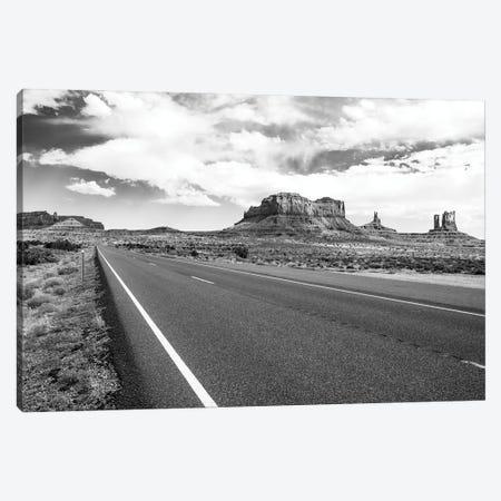 Black Arizona Series - Straight Line Canvas Print #PHD1661} by Philippe Hugonnard Art Print