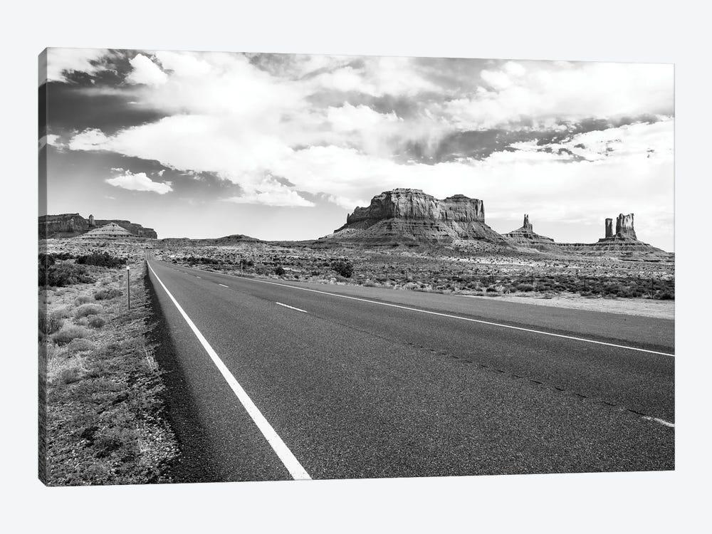 Black Arizona Series - Straight Line by Philippe Hugonnard 1-piece Canvas Print