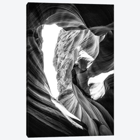 Black Arizona Series - The Antelope Canyon Natural Wonder XI Canvas Print #PHD1662} by Philippe Hugonnard Art Print