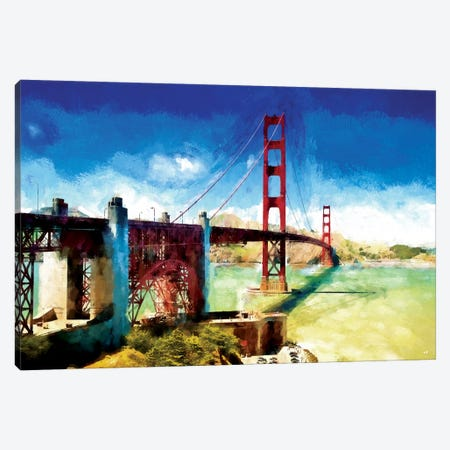 Paintography Series: The Golden Gate Bridge Canvas Print #PHD166} by Philippe Hugonnard Canvas Art