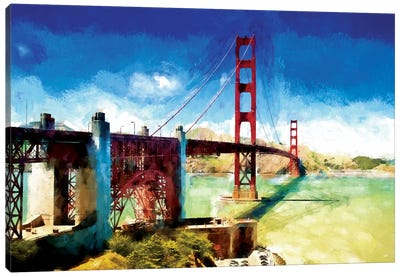 Paintography Series: The Golden Gate Bridge Canvas Art Print