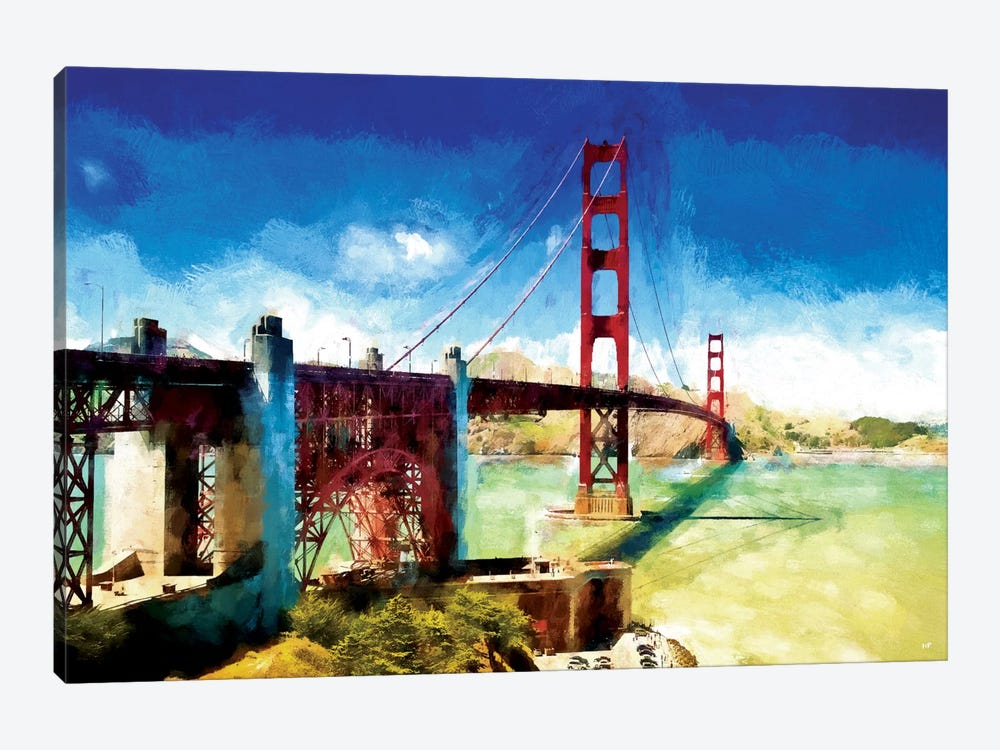 Paintography Series: The Golden Gate Bridge by Philippe Hugonnard 1-piece Art Print