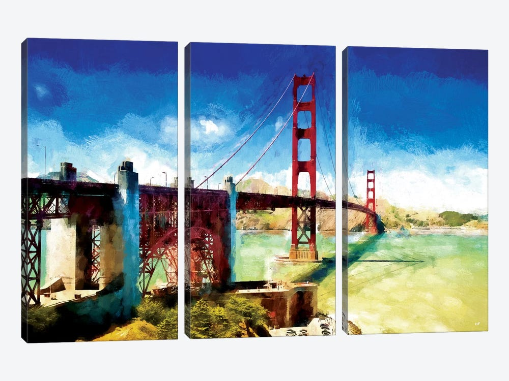 Paintography Series: The Golden Gate Bridge by Philippe Hugonnard 3-piece Art Print