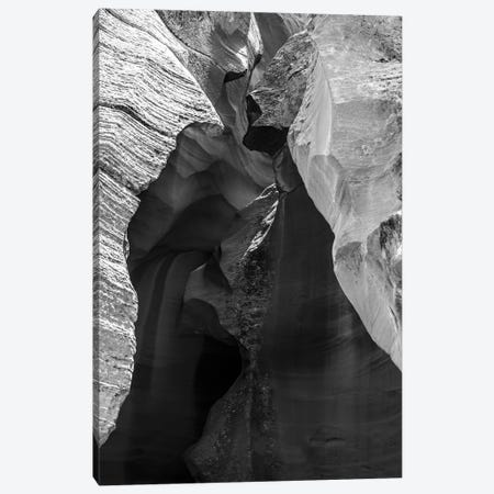 Black Arizona Series - Antelope Canyon Canvas Print #PHD1678} by Philippe Hugonnard Canvas Art