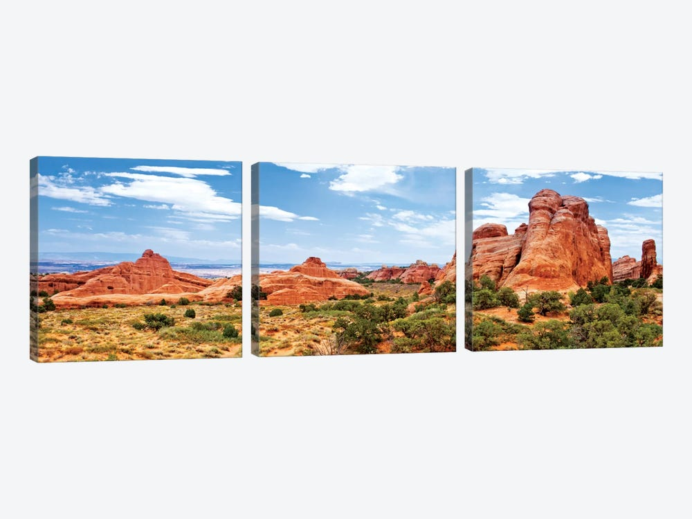Rock Formations, Arches National Park, Moab, Utah, USA by Philippe Hugonnard 3-piece Canvas Art
