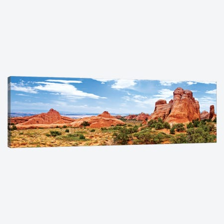 Rock Formations, Arches National Park, Moab, Utah, USA 3-Piece Canvas #PHD167} by Philippe Hugonnard Canvas Artwork