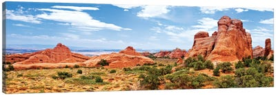 Rock Formations, Arches National Park, Moab, Utah, USA Canvas Art Print