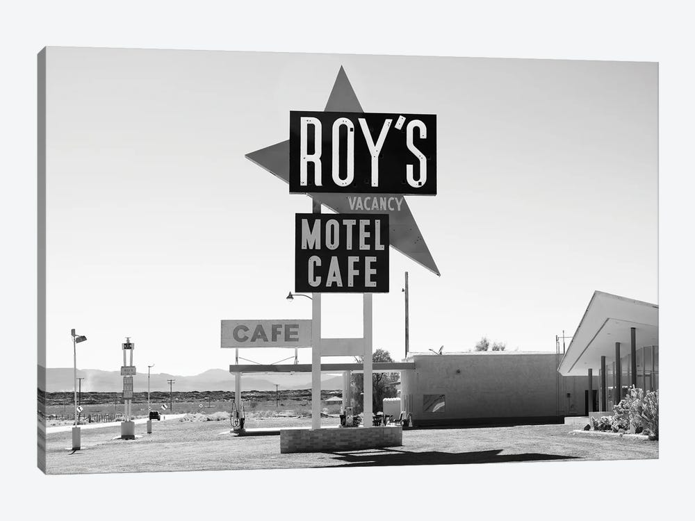 Black Arizona Series - Route 66 Roy's by Philippe Hugonnard 1-piece Canvas Wall Art