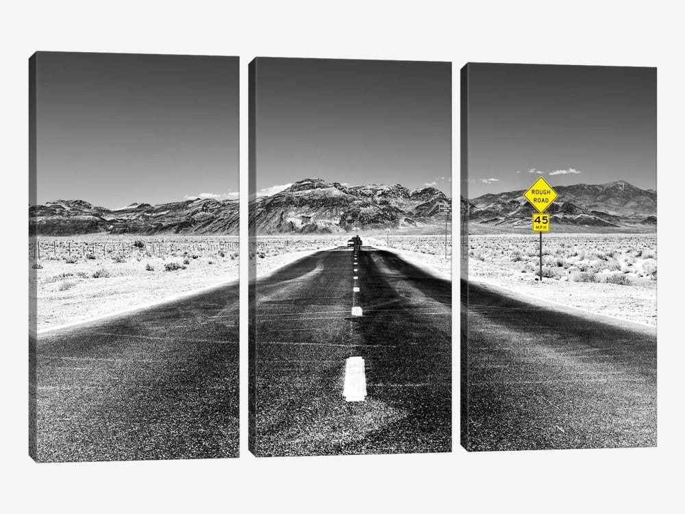 Rough Road, 45 MPH by Philippe Hugonnard 3-piece Art Print