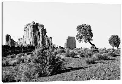 Black Arizona Series -Beautiful Monument Valley Navajo Tribal Park II Canvas Art Print