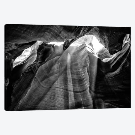 Black Arizona Series - Antelope Canyon Natural Wonder XIII Canvas Print #PHD1699} by Philippe Hugonnard Canvas Art