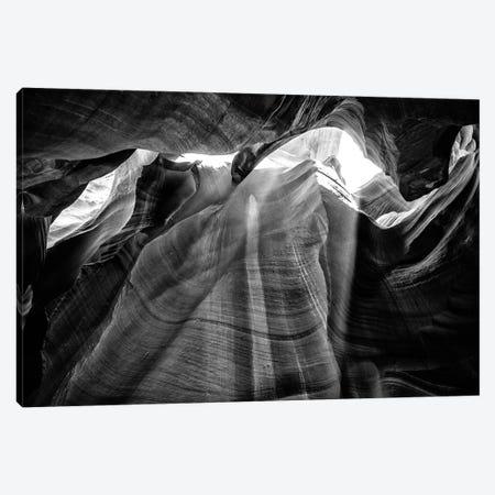 Black Arizona Series - Antelope Canyon Natural Wonder XIII Canvas Print #PHD1699} by Philippe Hugonnard Canvas Art